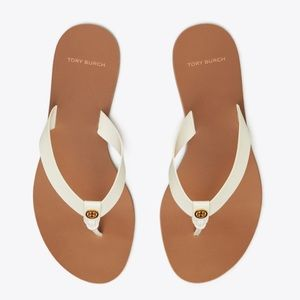 Tory Burch Manon Perfect Ivory Thong Sandals